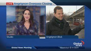 Angrignon Overpass Closing