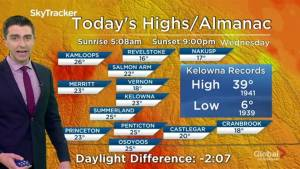 Kelowna Weather Forecast: July 17