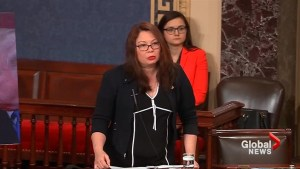 Sen. Duckworth slams Trump calling him 'five-deferment draft dodger'