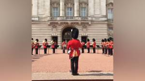 British Army plays 'Respect' to honour Aretha Franklin outside Buckingham Palace