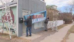 Historic 'Alberta Meat Market' sign donated to Galt Museum (01:43)