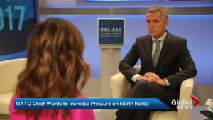 NATO Chief to increase pressure on North Korea