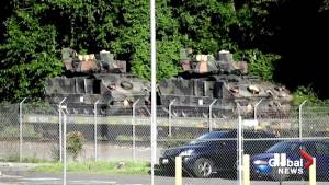Tanks, military vehicles arrive in DC ahead of Trump's 4th of July celebrations (00:53)