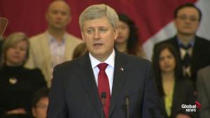 "Harper has two ""C"" words for critics of troops in Iraq"