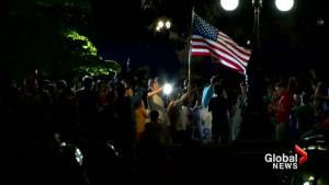 Protesters cheer as Democrats celebrate failed GOP health care bill