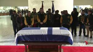 Football team Rob Ford coached visits former mayor's casket
