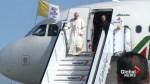 Pope Francis arrives in Dublin