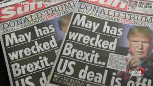 Trump drops Brexit bombshell on Britain's May in interview ahead of official visit