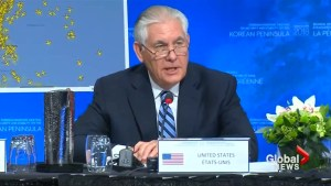 Tillerson warns North Korea that refusing to come to the table will open the door to military action