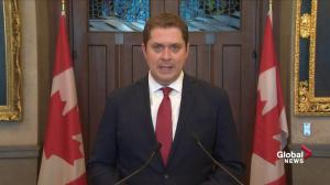 Andrew Scheer accuses Trudeau of using budget as 'political prop' in SNC-Lavalin controversy