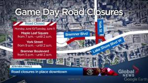 Massive crowds mean extra security and road closures around Toronto Raptors festivities