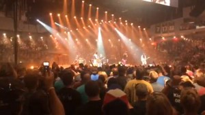 A walkthrough at The Tragically Hip's final show of their Man Machine Poem tour.
