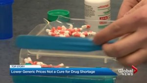 Concerns new generic drug price drop could lead to shortages