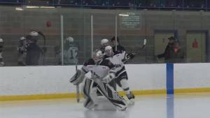 The Napanee Raiders play Grimsby for the OHA Junior C championship