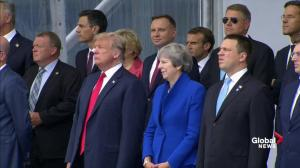 NATO leaders pose for traditional group photo as summit begins