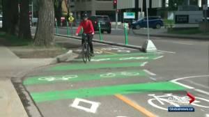 New Edmonton downtown bike network a change for motorists (02:09)