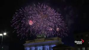 Germany lit up with New Year's fireworks