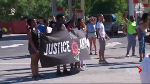Van strikes 'Justice for Rose' protest march in Pennsylvania