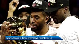 Kawhi Leonard and Danny Green leave Toronto for LA