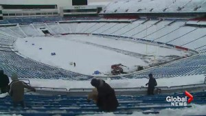 Bills fans turn out to help shovel snow out of stadium ahead of game