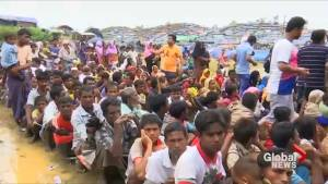 Hundreds of Rohingya refugees seek medical attention at impromptu field clinic