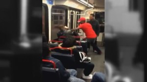 RAW: Cell phone video shows man attacked on St. Louis Metrolink train