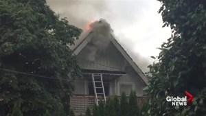 Three-alarm fire at Kitsilano home