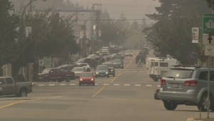 Forest fires cause poor air quality in Prince George