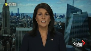 Haley says trump struck right tone in first speech before the UN