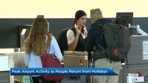 Peak holiday travel day at Calgary International Airport