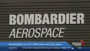 Bombardier to cut its workforce by 7,000 positions over 2 years (00:26)
