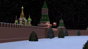 Santa tracker update:  Santa arrives in Russia, flies over Moscow