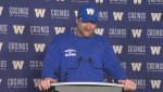 RAW: Blue Bombers Mike O'Shea Media Briefing – Sept. 27