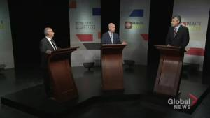 Political leaders spar in first Nova Scotia election debate (01:48)