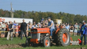 Justin Trudeau shows off plowing skills in Ontario