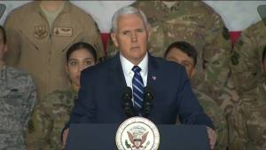 Mike Pence tells troops no immigration talks until government reopens