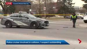Police search for man who fled scene after 2-vehicle collision in East York