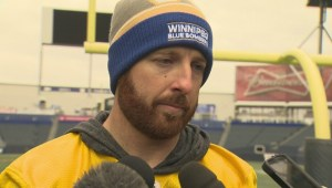 RAW: Blue Bombers Matt Nichols Interview – Oct. 22