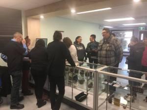 Doors to Mino Maskihki in Muscowpetung First Nation Open