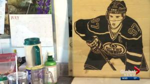 Artist has a passion for his craft and for hockey