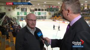 Former Bears coach speaks about hockey rivalry between the Bears and Huskies