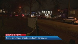 Vancouver police investigate after a man is shot Saturday night.