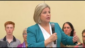 Andrea Horwath visits Peterborough