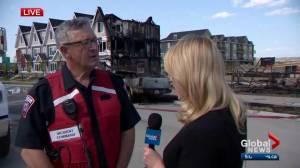 Cochrane fire chief discusses massive townhouse blaze