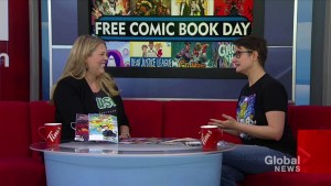 Celebrating free comic book day in Saskatoon
