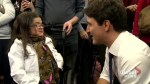 Prime Minister Justin Trudeau meet with residents of the Maison des sourds