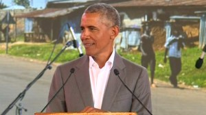 Obama urges Kenyan leaders to soothe ethnic tensions while visiting country, launches foundation