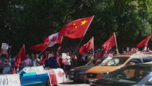 Duelling Hong Kong protests held outside Vancouver Chinese consulate