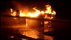 Suspicious fire destroys CN buildings in Cobourg