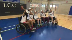 Charity wheelchair basketball tournament